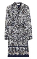 Tory Burch Brigitte Printed Cottonvoile Shirt Dress