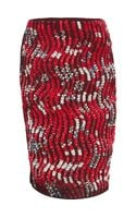 Peter Pilotto Wave Pencil Skirt - Lyst