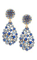 Oscar de la Renta Faceted Chandelier Clipon Earrings Indigo - Lyst