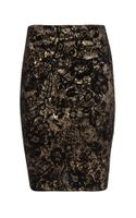 Jane Norman Foil Print Mini Skirt - Lyst