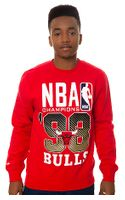 Mitchell & Ness The Chicago Bulls Nba Finals Championship Sweatshirt - Lyst