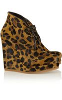 Jil Sander Leopardprint Calf Hair Ankle Boots - Lyst