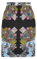Preen Sahara Printed Cotton Blend Skirt - Lyst