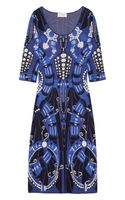 Temperley London Intarsia Knitted Flared Dress