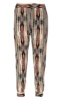 Tucker Printed Silk Tapered Pants