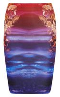 McQ by Alexander McQueen Printed Stretch-jersey Skirt - Lyst