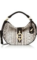 Diane Von Furstenberg Sutra Hobo Medium Leather and Watersnake Shoulder Bag - Lyst
