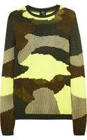 McQ by Alexander McQueen Camouflage Patterned Cotton Blend Sweater