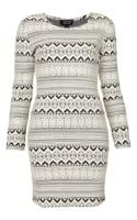 Topshop Geometric Pattern Bodycon Dress