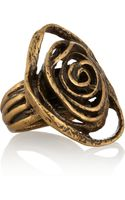 Oscar de la Renta Goldplated Flower Ring - Lyst