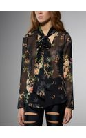 Patrizia Pepe Printed Silk Tunic Top