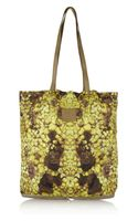 McQ by Alexander McQueen Printed Nylon and Leather Packaway Shopper