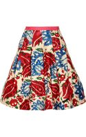 Oscar de la Renta Wool and Silkblend Jacquard Skirt