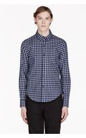 Band Of Outsiders Navy Gingham Shirt - Lyst