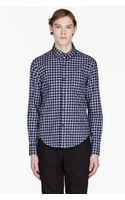 Band Of Outsiders Navy Gingham Shirt