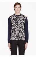 Marc By Marc Jacobs Black Leopard Henley