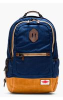 Rag & Bone Navy and Tan Suede-trimmed Sporty Backpack