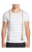 Scotch & Soda Suspender Striped Tee - Lyst