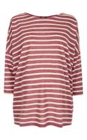 Topshop Stripe Drop Shoulder Maternity Tee