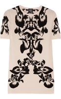McQ by Alexander McQueen Intarsia Stretch Knit Top