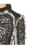 DSquared2 Silk Cotton Woven Nappa Leather Jacket - Lyst