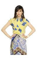 Etro Printed Silk Crepe Top
