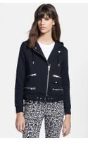 The Kooples Hooded Biker Sweatshirt - Lyst