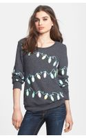 Wildfox Glowing Lights Sweatshirt