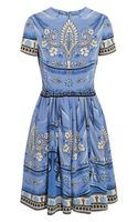 Alice By Temperley Pepita Printed Silk Dress - Lyst
