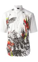 McQ by Alexander McQueen Printed Short Sleeve Shirt
