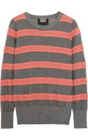 Markus Lupfer Striped Cotton and Wool Blend Sweater