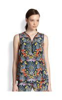 Marc By Marc Jacobs Maddy Botanical Print Silk Top