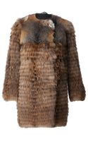 Meteo By Yves Salomon Raccoon Fur Coat - Lyst