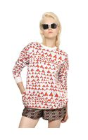 Stella McCartney Silk Wool Blend Heart Sweater - Lyst