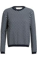 Marni Textured Checked Knit