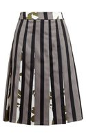 Marni Striped Duchesse Satin Skirt