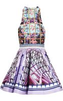 Mary Katrantzou Trinkolo Printed Satin Twill Dress