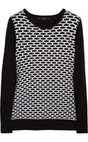 Tibi Intarsia Cotton and Modal Blend Sweater