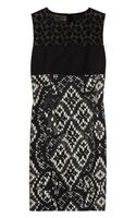 Giambattista Valli Paneled Intarsia Cottontweed Shift Dress - Lyst
