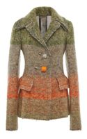 Calvin Klein Multicolor Artisan Tweed Wool Pin Closure Jacket
