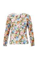 MSGM Floralprint Lace Blouse
