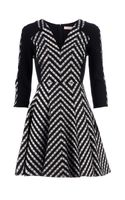 Matthew Williamson Zigzag Empire Line Dress - Lyst