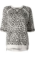 Marc By Marc Jacobs Zip Detail Leopard Print Sweater - Lyst