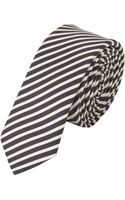 Saint Laurent Stripe Tie - Lyst