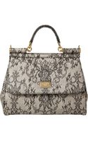 Dolce & Gabbana Laceprint Medium Miss Sicily Bag - Lyst