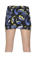 Kenzo Fish Printed Stretch Cotton Twill Skirt