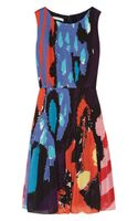 Oscar De La Renta For The Outnet Printed Silk Chiffon Dress - Lyst