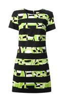 Michael by Michael Kors Striped Abstract Print Dress - Lyst