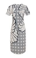 Thom Browne Embroidered Tweed Dress - Lyst