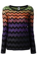M Missoni Jacquard Zigzag Sweater